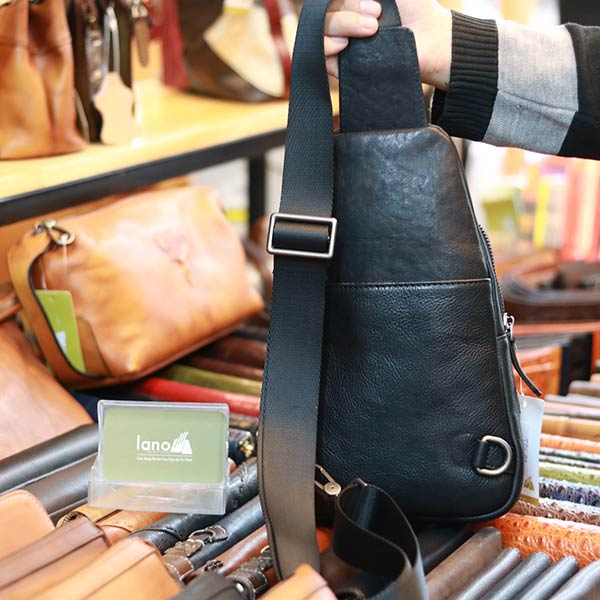 Túi đeo ngực da bò nhập khẩu lano nhỏ gọn tiện lợi TDL80